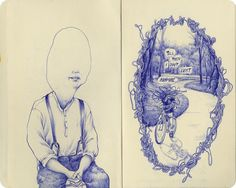 "by ¥¥¥¥¥P∆†¥¥¥¥¥, via Flickr. Sketchbook ""Tell them I don't exist anymore"""