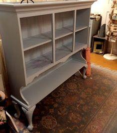 Nancy's Creations : Hutch Top Re-Purposed Furniture Fix, Furniture Projects, Furniture Making, Furniture Makeover, House Projects, Repurposed China Cabinet, Repurposed Furniture, Vintage Industrial Decor, Condo Living