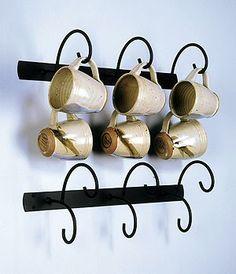 It's cheaper at this site: Mug Racks Coffee Mug Display, Coffee Mug Holder, Coffee Cups, Coffee Coffee, Mug Tree, Long Kitchen, Creative Coffee, Kitchen Rack, Mug Rack