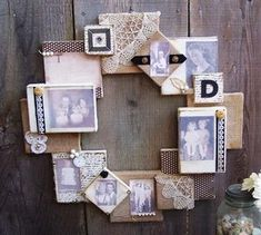 Love this, how fun!  It would also be neat to do paintings in that style, canvas wreath, genius!