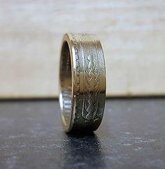 Chile 10 Centesimos handmade coin ring, various sizes