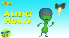 Motu patlu run into an abandoned house to escape chaiwala. Inside, they encounter talking sofas and dustbins, forks and other furniture. Later, an alien shows up in front of them who they try to scare off and accidentally stumble into the control room. It is the control room of that alien's space ship. Watch Alien's House - Motu Patlu in Telugu  https://youtu.be/CMf_RtpdbNc