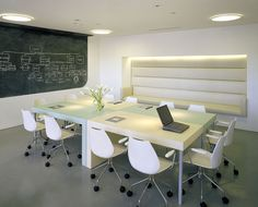 tech office - one way to get a huge boardroom table on a budget