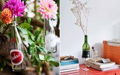 Vasos reciclados - Garrafas - Revista Westwing