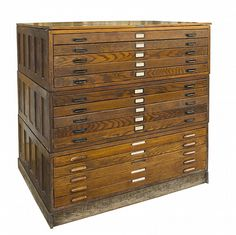 15 oak blueprint cabinet on vintage hamilton economy solid oak map case 15 wide flat panel drawers malvernweather Images