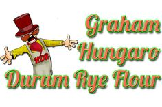 GRAHAM HUNGARO DURUM RYE FLOUR: Graham flour differs whole grain Hungaro durum rye flour only in its bigger granulate size, but it contains all of the ingredients that the grain has. Getting into the organism the carbohydrate absorbs slower - so after eating hunger sensation does not develop so soon. Because of its vitamin, mineral and fiber content its nutritive value is excellent. It is very recommended for patients in digestive disorders. It is popular... Rye Grain, Graham Flour, Types Of Flour, Rye Flour, Grains, Content, High Fibre, Mineral, Fiber