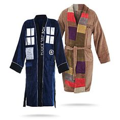 Gallivanting across spacetime in a big blue box, a Time Lord's life is tiresome. Time for a dip in the pool, put your feet up on the console, and relax! Even if bowties are cool, they're not loungewear. Try something soft, warm, and comfortable, instead!