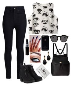 """""""Tattoos And Skinny Jeans, Black Boots And Piercings"""" by dancer-242 ❤ liked on Polyvore"""
