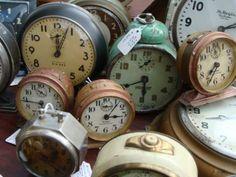 lovely little vintage clocks...
