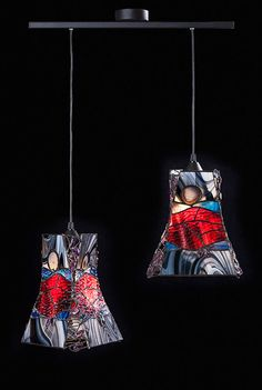 LAMPA PODWÓJNA WISZĄCA ''BAROK'' w Ni'Finn Handmade na DaWanda.com