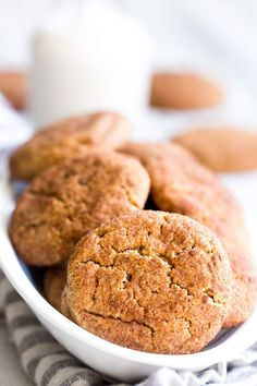 These super chewy, thick and soft paleo and vegan snickerdoodles are deliciously addicting, kid approved, and great for holiday cookie season or anytime a craving hits!  Dairy free, egg free, grain free, gluten free, paleo and vegan.