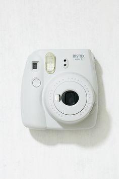 Slide View: 1: Fujifilm Instax Mini 9 Smokey White Instant Camera
