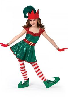 Here's an Elf Girl costume with extra large elf ears. Description from halloweencostumepictures.com. I searched for this on bing.com/images