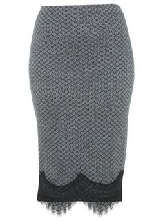 Lace Trim Tube Skirt - Miss Selfridge price: £29.00