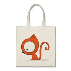 Big-eyed cat tote bag