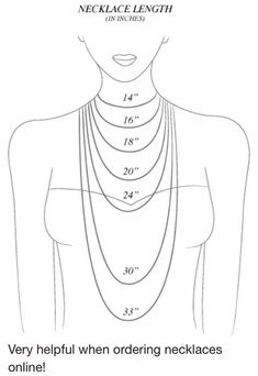 Neckless Length Guide, Helpful When Your Ordering Neckless Online !!!