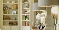 Helen Turkington is among one of the most influential and talented interior designers within Ireland and the UK. Helen Turkington, Ireland Homes, Interior Inspiration, Bookcase, New Homes, Shelves, Reading Nooks, Living Room, Interior Design