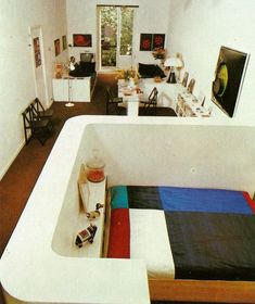 Loft space, The House Book by Terence Conran, 1976 . Interior Architecture, Interior And Exterior, Retro Interior Design, Retro Home, Home Studio, Loft Spaces, House Rooms, Interiores Design, Ideal Home