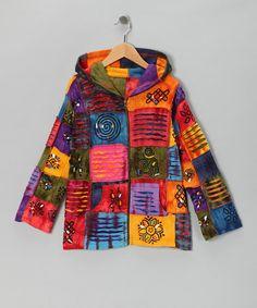 Look what I found on #zulily! Rainbow Patch Zip-Up Hoodie - Toddler & Girls #zulilyfinds