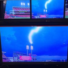 """#RealTalk: Love playing this game but nobody got time for this ... Yep, it hit the light pole at #GABP⚾️⚡️ #MESSAGE"""