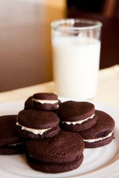 Homemade Oreo Cookies.    1 1/4 C all-purpose flour  1/2 C unsweetened cocoa  1 t baking soda  1/4 t baking powder  1/4 t salt  1 C sugar  1/2 C plus 2 T butter, room temperature  1 large egg  In a medium-sized bowl, mix the flour, cocoa, baking soda and powder, salt, and sugar.  Beat in the butter and the egg. Continue mixing until dough comes tog