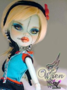 New OOAK Custom Monster High Frankie Stein repaint by ♥ Rogue Lively ♥