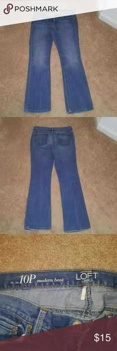 Loft Jeans Ann Taylor Loft size 10P jeans. Amazing jeans, great condition, about 2 years old. Ann Taylor Jeans Boot Cut
