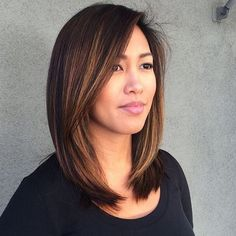 Copper Balayage Highlights For Dark Brown Hair