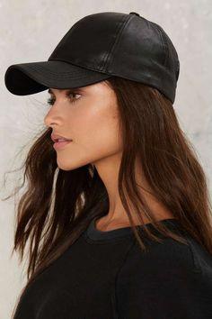 Ballin  Vegan Leather Baseball Cap - Accessories  9d3dd5217f47