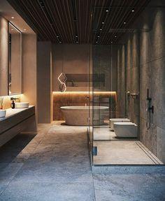 Cheap Home Decor .Cheap Home Decor Modern Bathroom Design, Bathroom Interior Design, Modern House Design, Modern Bathrooms, Bathroom Designs, Interior Livingroom, Bedroom Modern, Luxury Home Decor, Luxury Interior