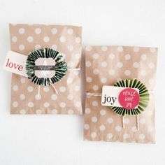 Pretty Holiday Packaging using Paper Rosettes | Free Project from The Studio