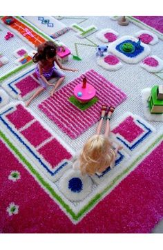 Playhouse play rug!  This would be SO cute for a little girls room or a play room!