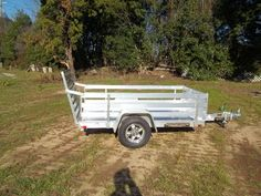 BEST TRAILERS : 2016 ALUMA 548 - Macon, GA aluminum 54 x 8 utility trailer with 24 high side rail kit