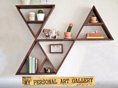 Étagère en bois, récupéré l'étagère en bois, étagère en bois, étagère murale, plateau flottant, étagères, étagère rustique, tablettes de bois, bois récupérés