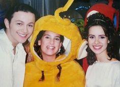 Nos bastidores do seriado Sandy & Junior em 1999 Fonte: Instagram @sandyleahelucaslima