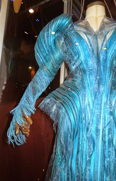 Into the Woods blue Witch costume sleeve detail