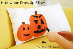"""LOVE this Haloween """"Dress-Up"""" Pillow by @Shauna (LilDuckieArts) (LilDuckieArts) (LilDuckieArts) (LilDuckieArts) Wightman :) The perfect balance of decor and child entertainment!"""