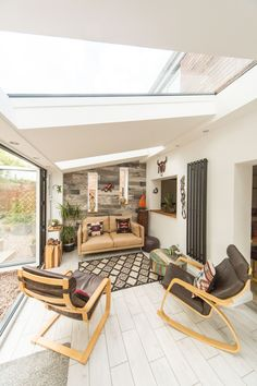 Discover a tiled conservatory roof that's also glazed with the Ultraroof. Tiled Conservatory Roof, Conservatory Interiors, Conservatory Dining Room, Conservatory Design, Cosy Conservatory Ideas, Conservatory Extension, House Extension Plans, House Extension Design, Glass Extension