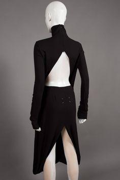 Maison Martin Margiela deconstructed black evening dress, C. 2009 3