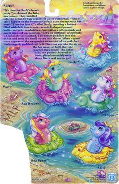 My Little Pony Baby Sea Pony Backcard - Surfy