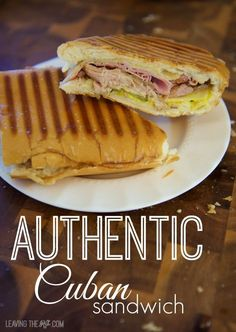 Kubanisches Sandwich, Subway Sandwich, Soup And Sandwich, Sandwich Sides, Cuban Recipes, Pork Recipes, Cooking Recipes, Cuban Sandwich Recipes, Panini Recipes