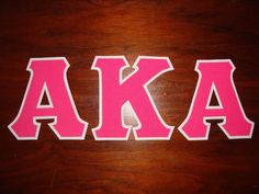 ALPHA KAPPA ALPHA SORORITY 5 INCH GREEK SORORITY IRON ON LETTERS (NO SEW)