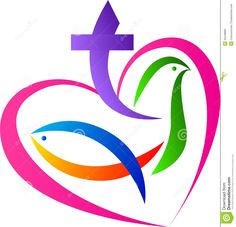 Illustration about A vector drawing represents christian love symbol design. Illustration of calvary, christian, graphics - 30448883 Religious Symbols, Love Symbols, Religious Art, Christian Images, Christian Love, Christian Drawings, Church Logo, Church Banners, Image Jesus