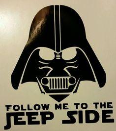 "Darth Vader Jeep Side 5"" Black Vinyl Decal Sticker Windows Walls Laptop Etc | eBay"