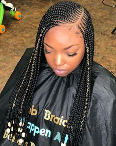 # small Braids with curls # small Braids updo # small Braids updo Box Braids Hairstyles, Black Girl Braids, Braided Hairstyles For Black Women, Braids For Black Hair, Girls Braids, African Hairstyles, Girl Hairstyles, Cornrows For Little Girls, Lemonade Braids Hairstyles