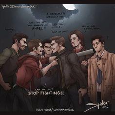 SuperWolf- STOP Fighting by spider999now on DeviantArt #Sterek #Fanart #Destiel