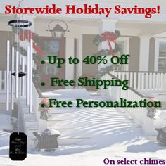 Hand tuned engraved wind chimes and gifts. Engraved Gifts, Holiday Sales, Wind Chimes, Whimsical, Check, Etched Gifts