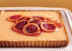 Fresh Orange Tart with Hazelnut Crust
