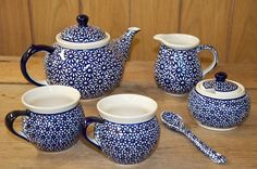 A beautiful tea set.  To buy visit our shop or buy on-line at www.polkadotlane.co.uk
