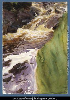 Rushing Water   John Singer Sargent   Www.johnsingersargent.org